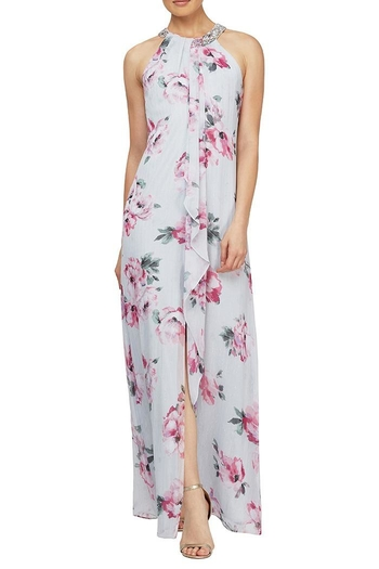 Elegance by Sarah Ruhs Floral Beaded Maxi from Iowa by Elegance Boutique — Shoptiques