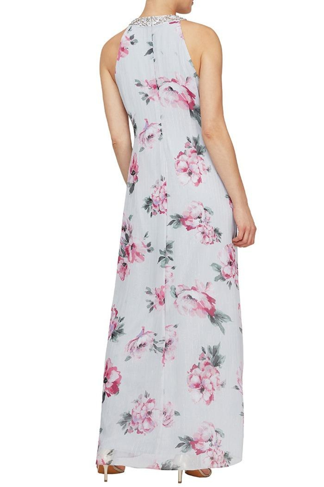 Elegance by Sarah Ruhs Floral Beaded Maxi - Front Full Image