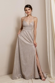 Elegance by Sarah Ruhs Glitter Jersey Ballgown - Front cropped