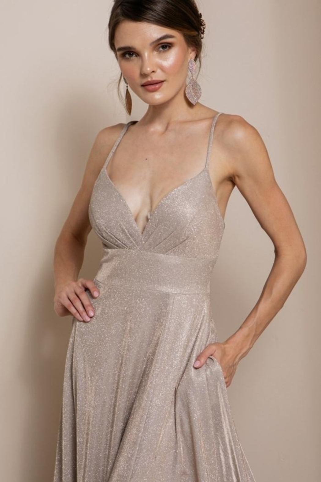 Elegance by Sarah Ruhs Glitter Jersey Ballgown - Back Cropped Image