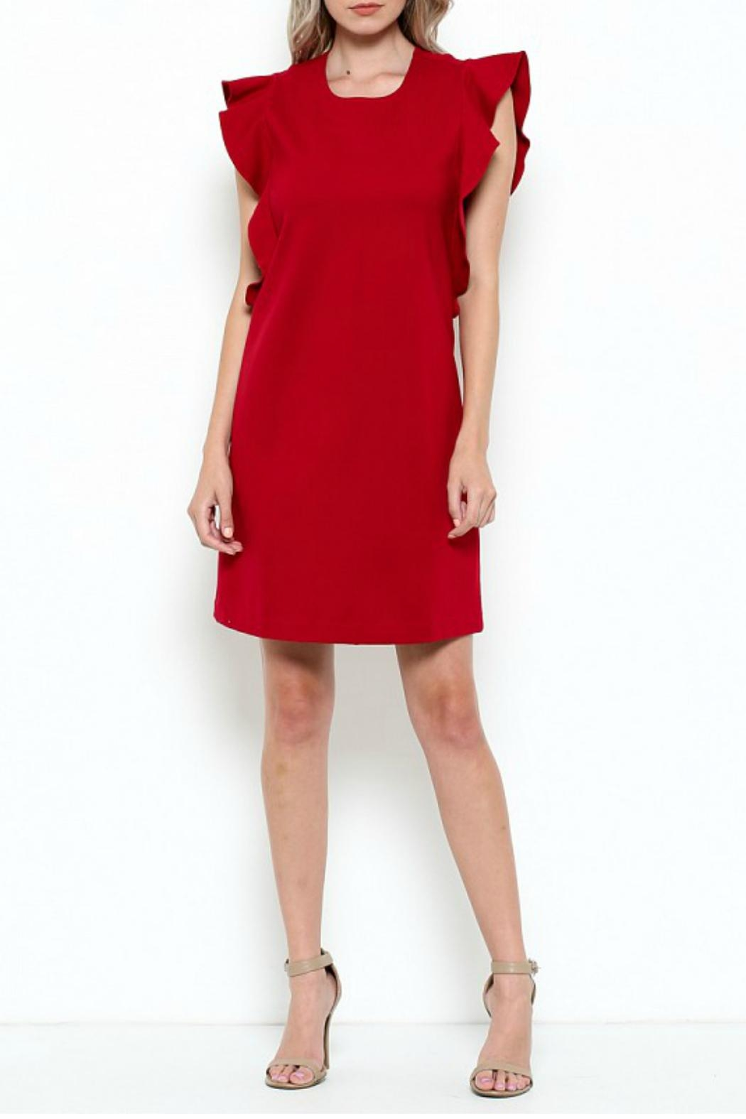 Elegance by Sarah Ruhs Ruffle Trim Dress - Main Image