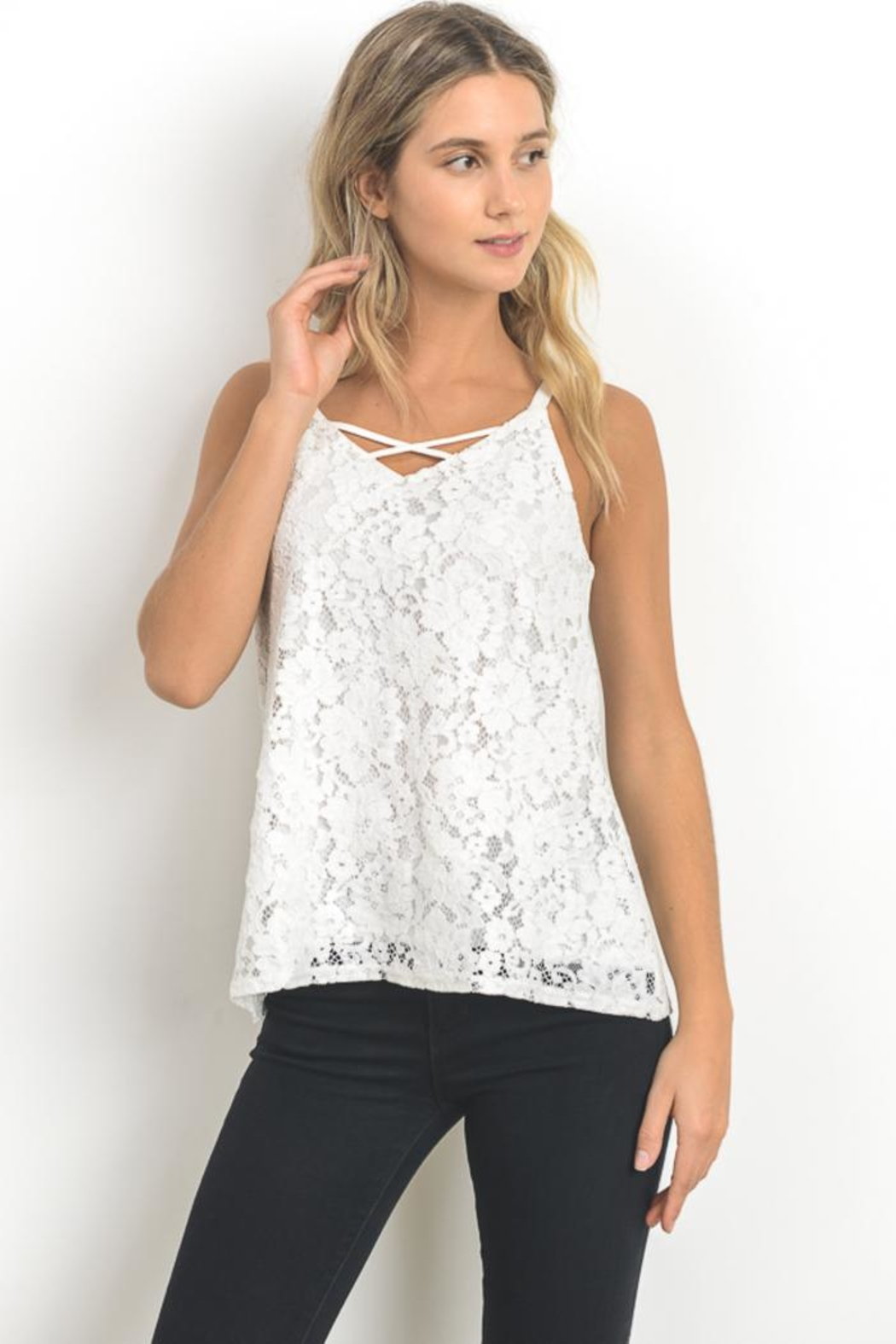 Elegance by Sarah Ruhs Scallop Lace Cami - Main Image
