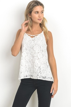 Elegance by Sarah Ruhs Scallop Lace Cami - Product List Image