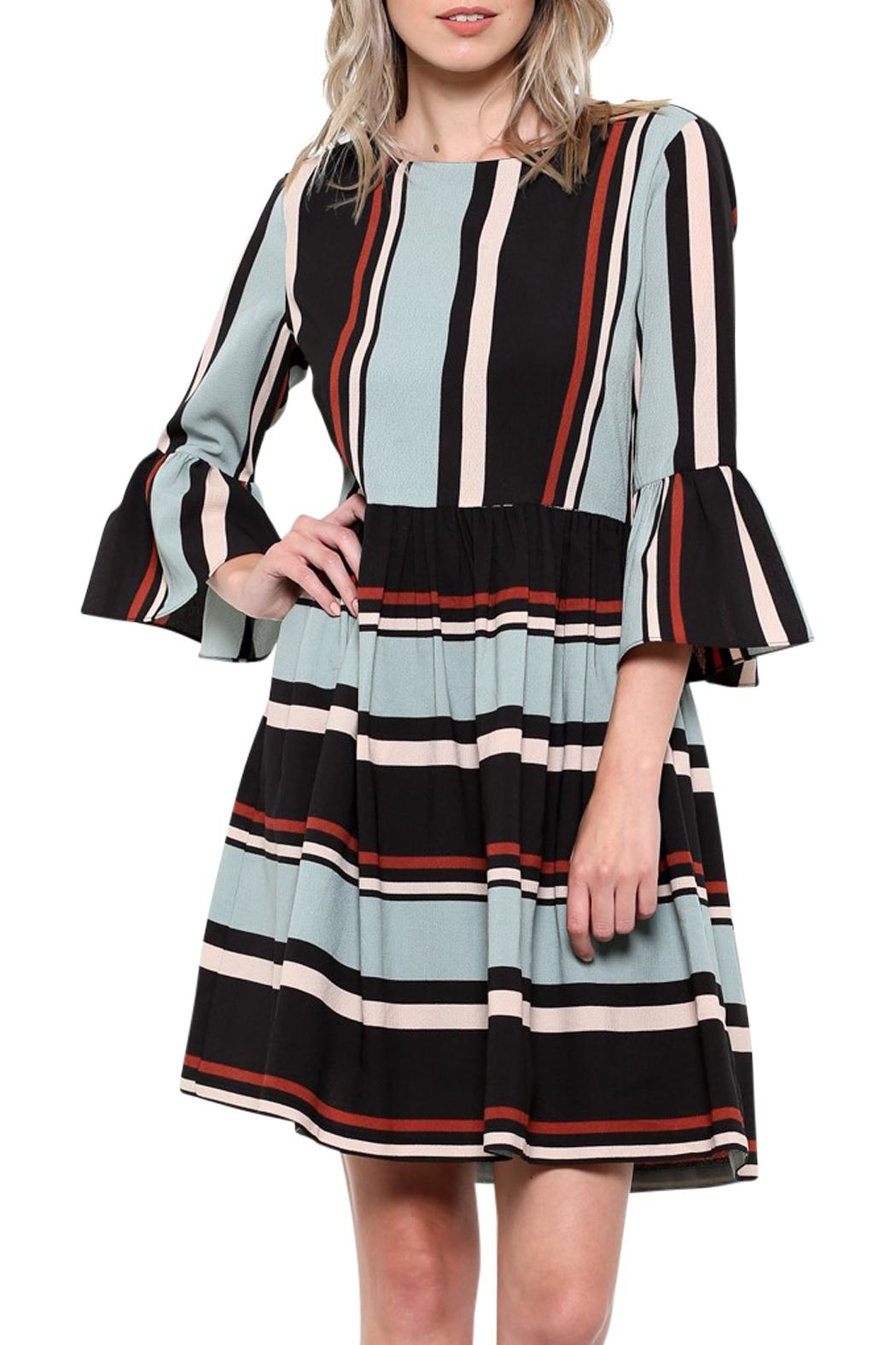 Elegance by Sarah Ruhs Striped Bell-Sleeve Dress - Main Image