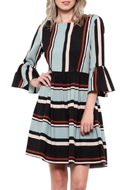 Elegance by Sarah Ruhs Striped Bell-Sleeve Dress - Product Mini Image