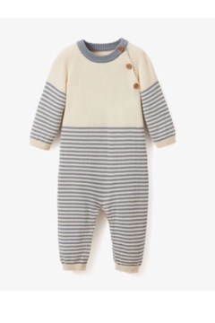Elegant Baby Striped Cotton One Piece Romper - Product List Image