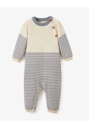 Elegant Baby Striped Cotton One Piece Romper - Product Mini Image