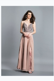 Dave and Johnny Elegant Beaded Gown - Product Mini Image