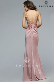 Faviana Elegant Satin Dress - Product Mini Image