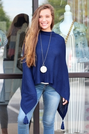 Mainstreet Collection Elegant Tassel Poncho - Product Mini Image