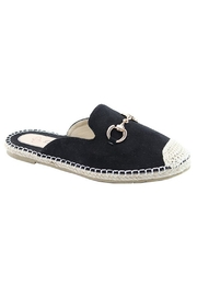Eleganter Black Espadrill Slide - Product Mini Image