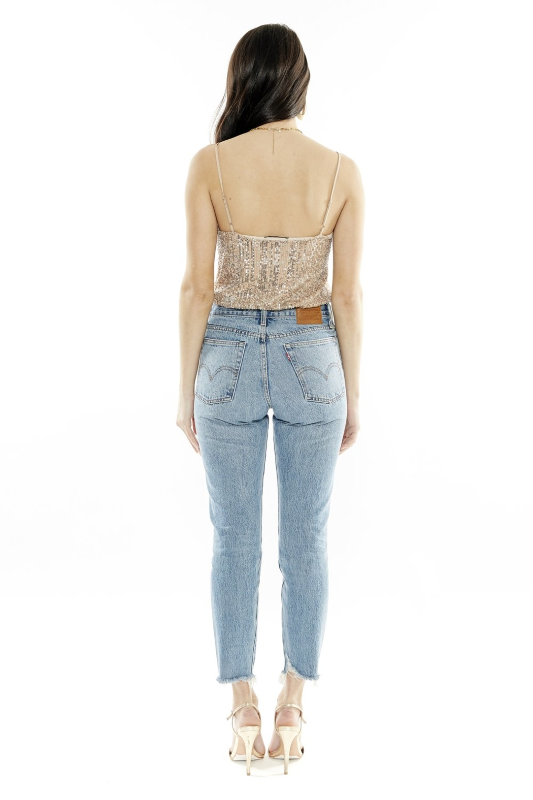 4SI3NNA Eleigh Sparkle Bodysuit - Side Cropped Image