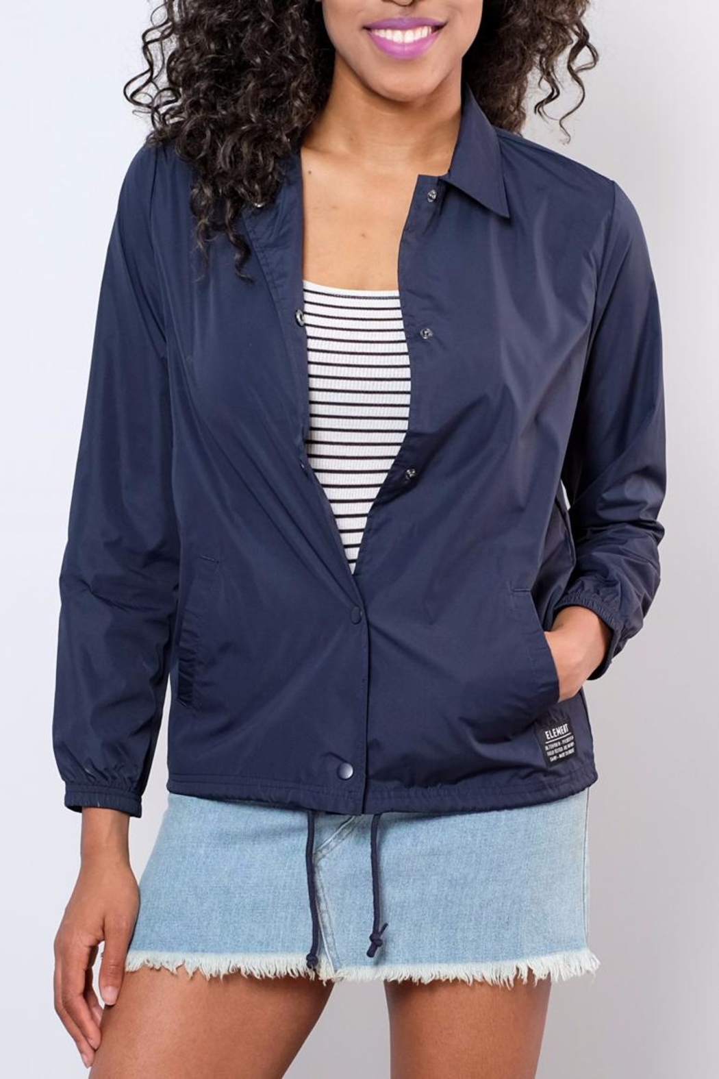 element Lightweight Coaches Jacket - Front Full Image