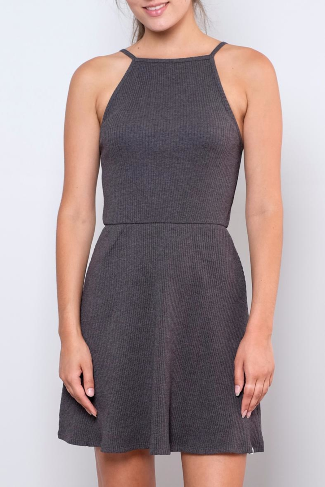 element Ribbed Fit-And-Flare Dress - Main Image