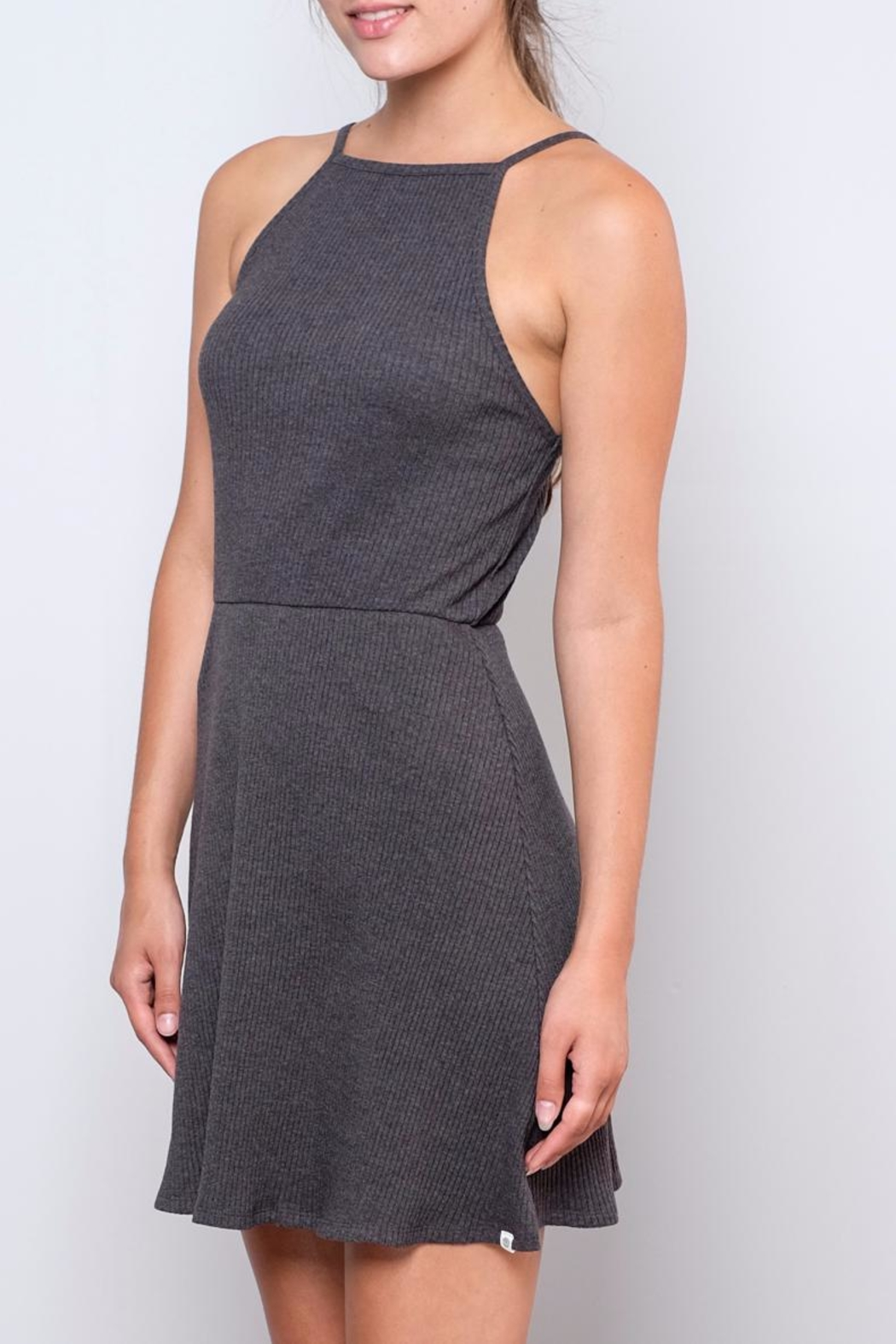 element Ribbed Fit-And-Flare Dress - Front Full Image