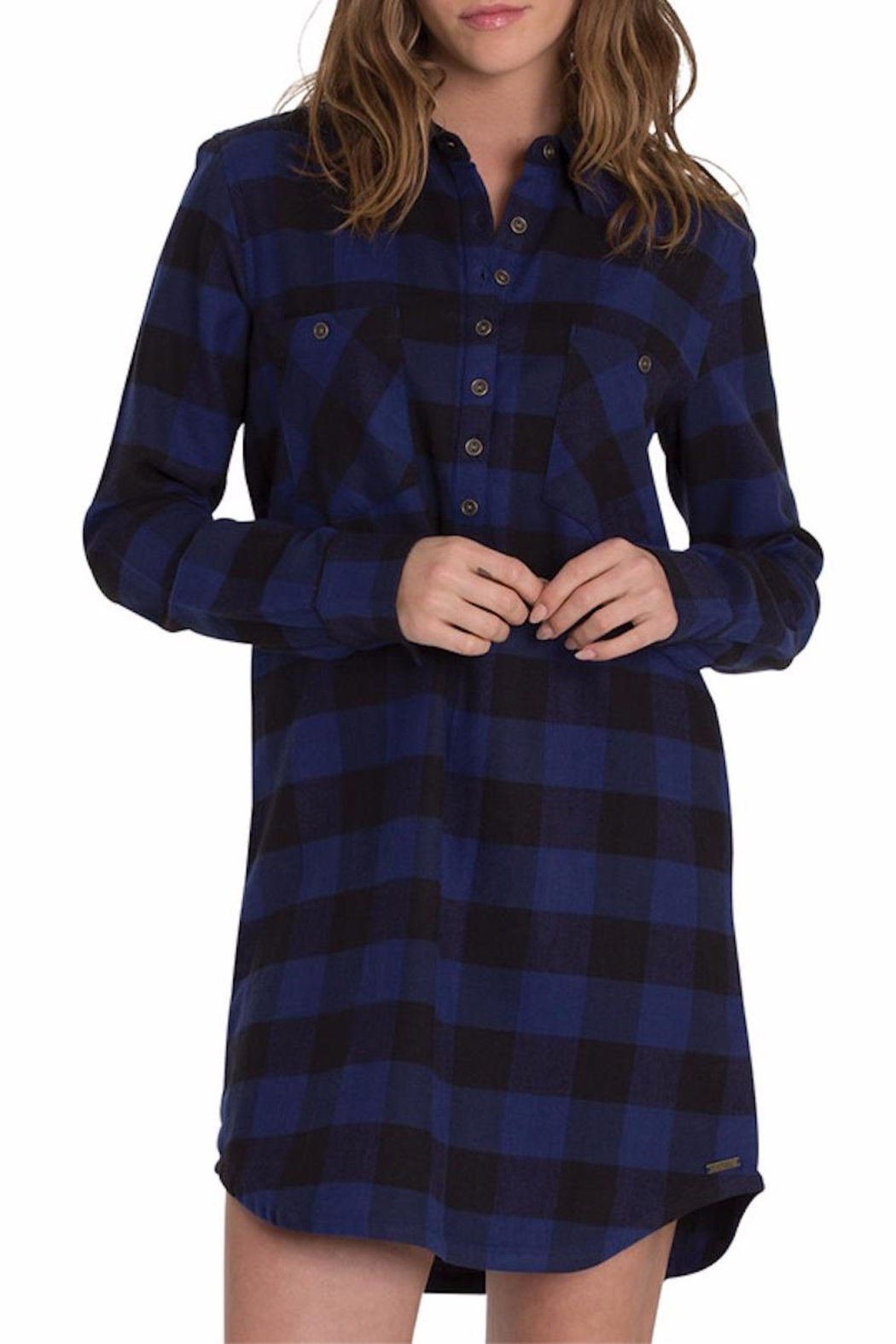 Element Eden Teddy Flannel Dress - Front Cropped Image