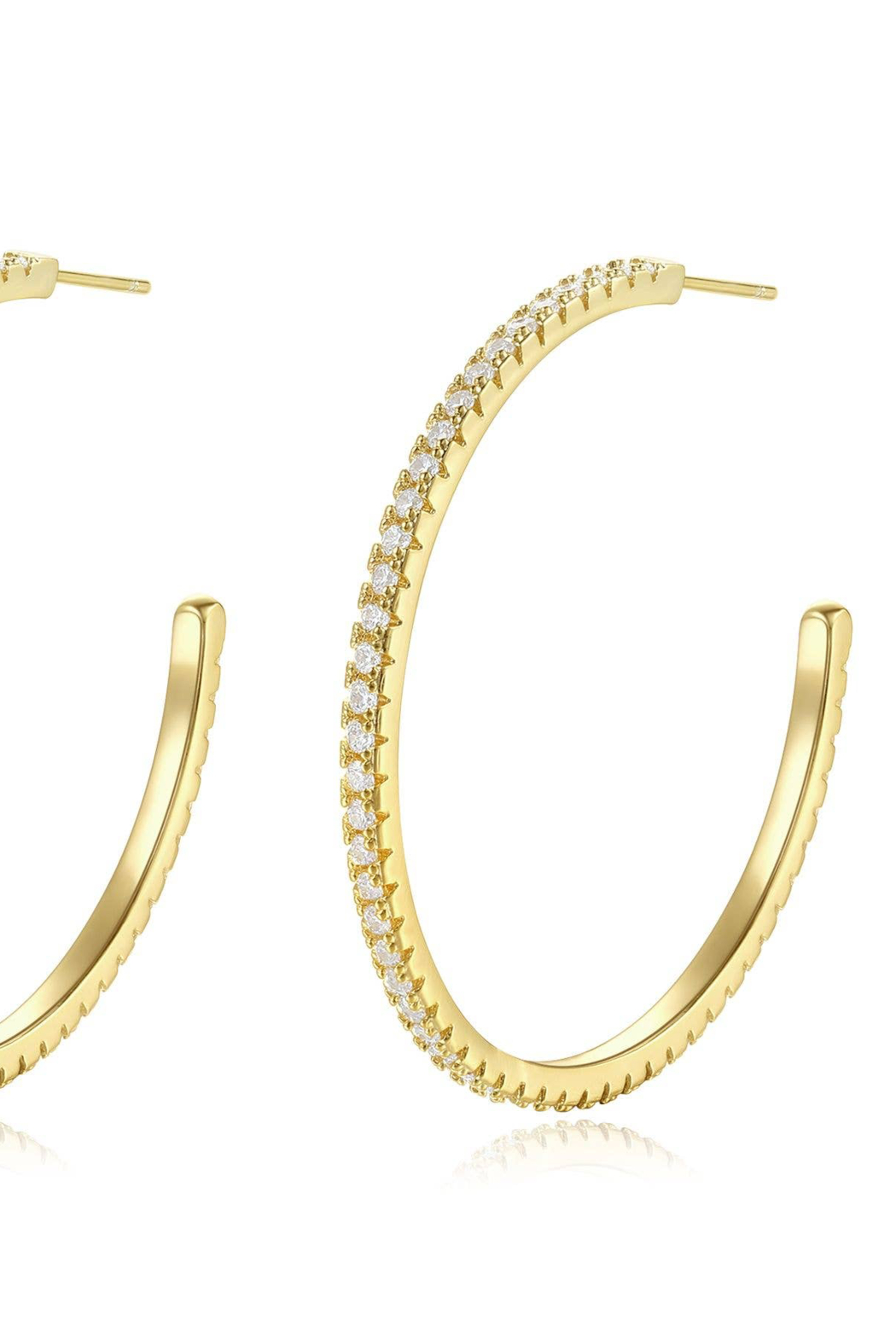 Natalie Mills Elena Crystal Earrings - Front Cropped Image