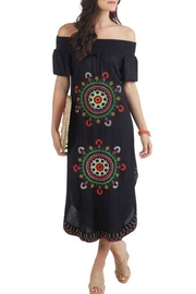 Mud Pie Elena Embroidered Maxi-Dress - Product Mini Image
