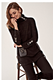 Elena Wang Black Boucle Sweater - Front cropped