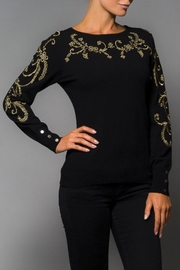 Elena Wang Black Embroidered Sweater - Product Mini Image