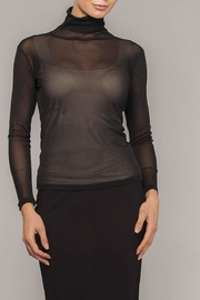 Elena Wang Black Sheer Turtleneck - Product Mini Image