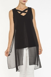 Elena Wang Black Sleeveless Tunic - Product Mini Image