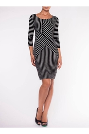 Elena Wang Black/White Stripe Dress - Product Mini Image