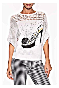 Elena Wang Bling Shoe Sweater - Product List Image