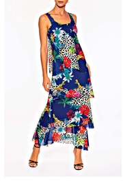 Elena Wang Blue Tropics Dress - Product Mini Image