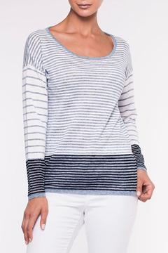 Shoptiques Product: Denim Striped Sweater
