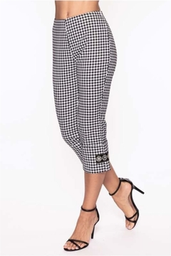 Elena Wang Gingham Pant With Bling - Alternate List Image