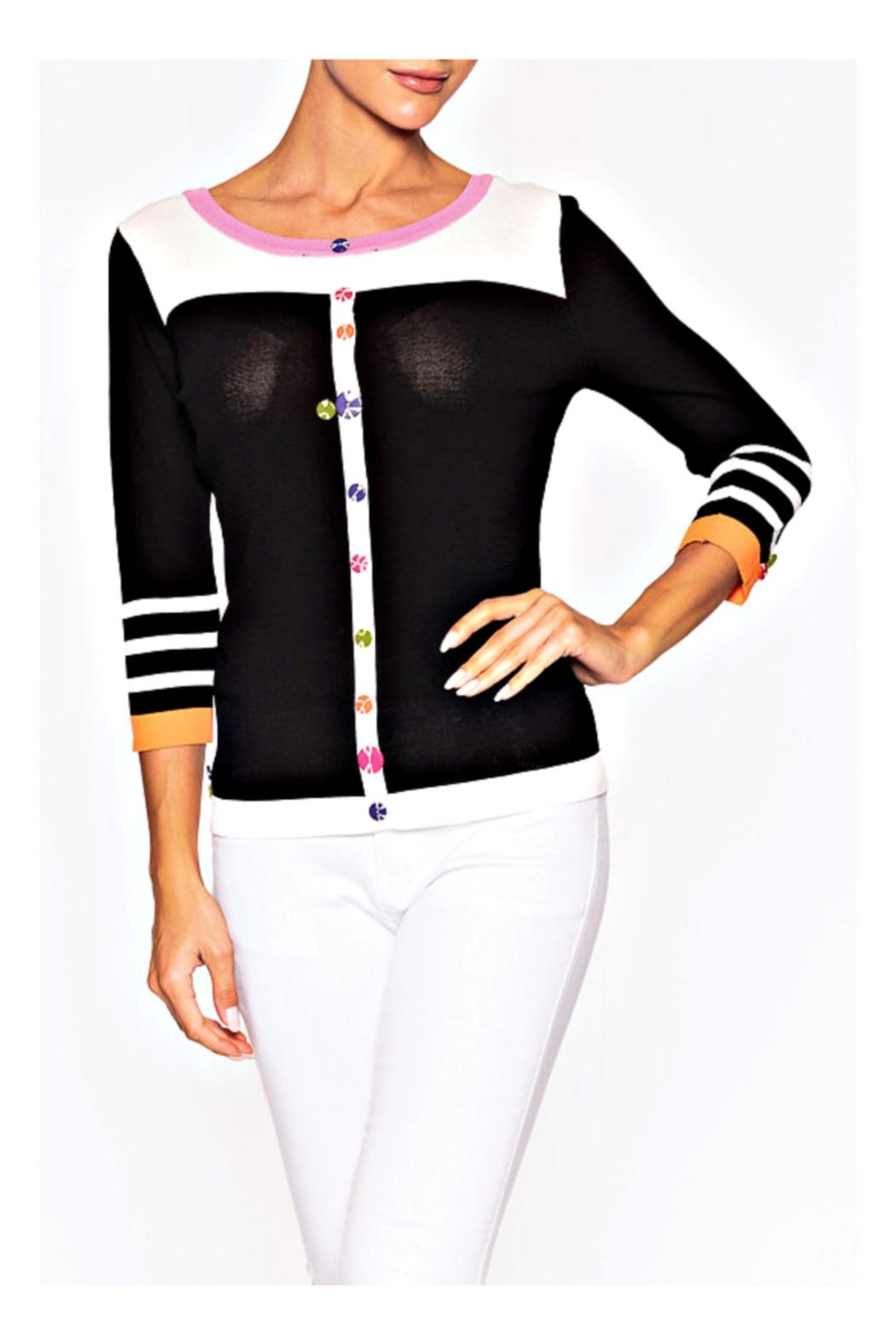 Elena Wang Playful Button Sweater - Front Full Image