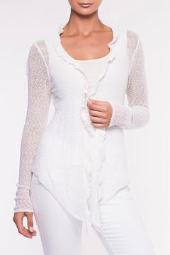 Shoptiques Product: Ruffled Front Cardigan
