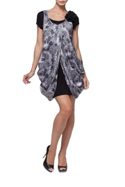 Elena Wang Sno Leopard Draped Dress - Product Mini Image