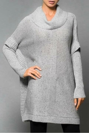 Elena Wang Speckled Poncho Sweater - Product Mini Image