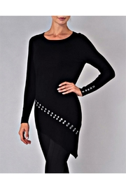 Elena Wang Studded Black Sweater - Product Mini Image