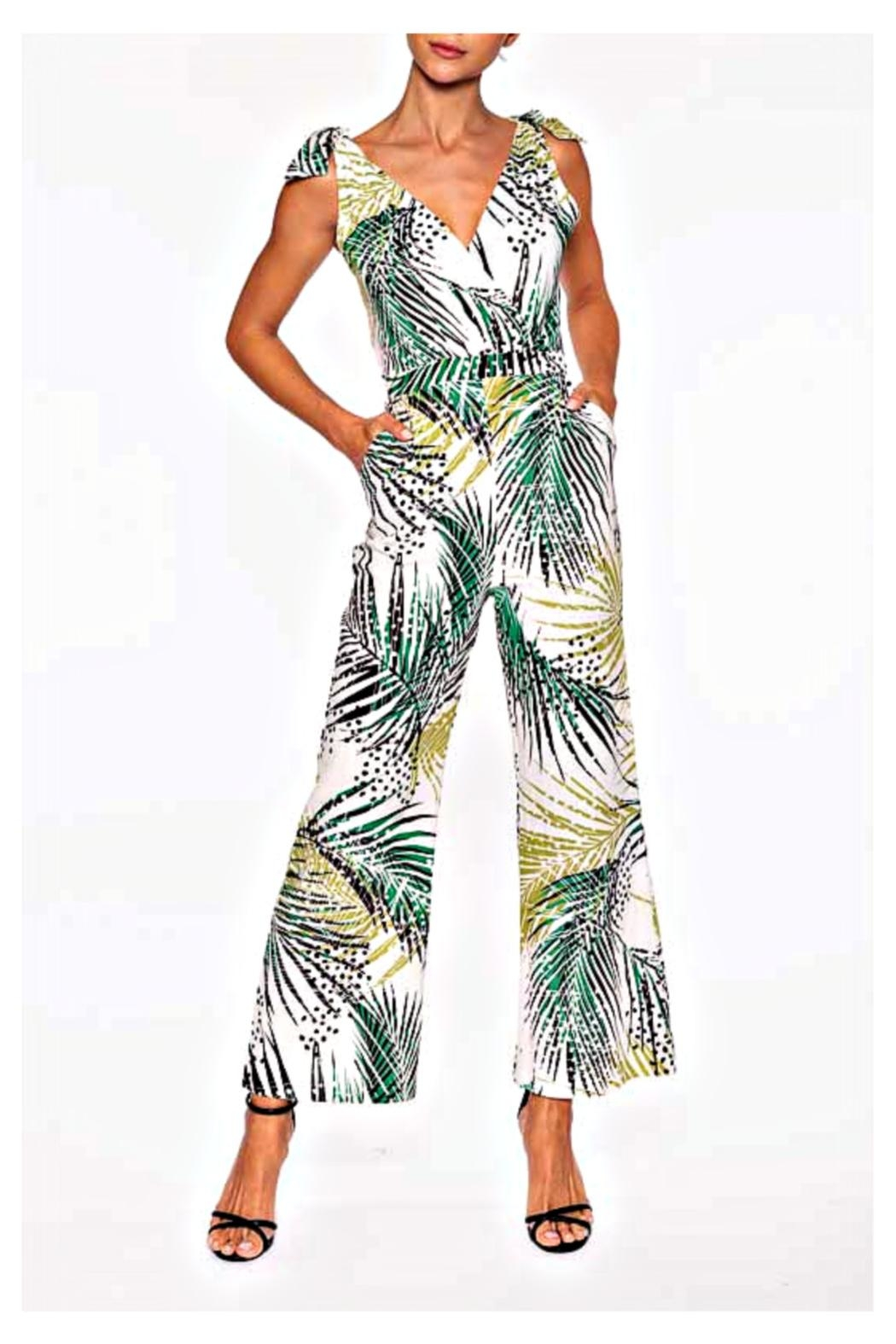 Elena Wang Tropic Leaf Jumpsuit - Front Cropped Image