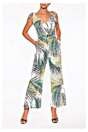 Elena Wang Tropic Leaf Jumpsuit - Front cropped