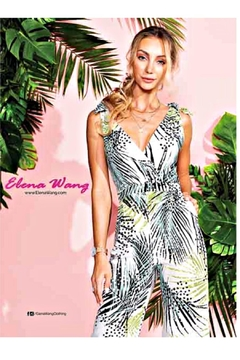 Elena Wang Tropic Leaf Jumpsuit - Alternate List Image
