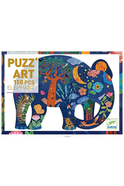 Djeco Elephant 150 Piece Art Puzzle - Product Mini Image