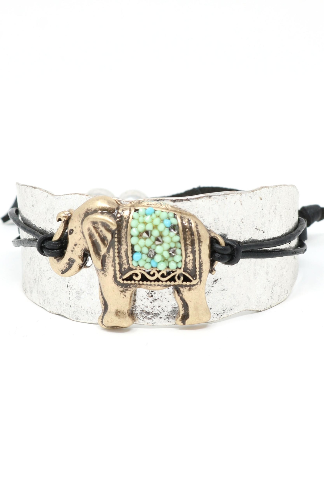 Night Queen Elephant Adjustable Bracelet - Front Cropped Image