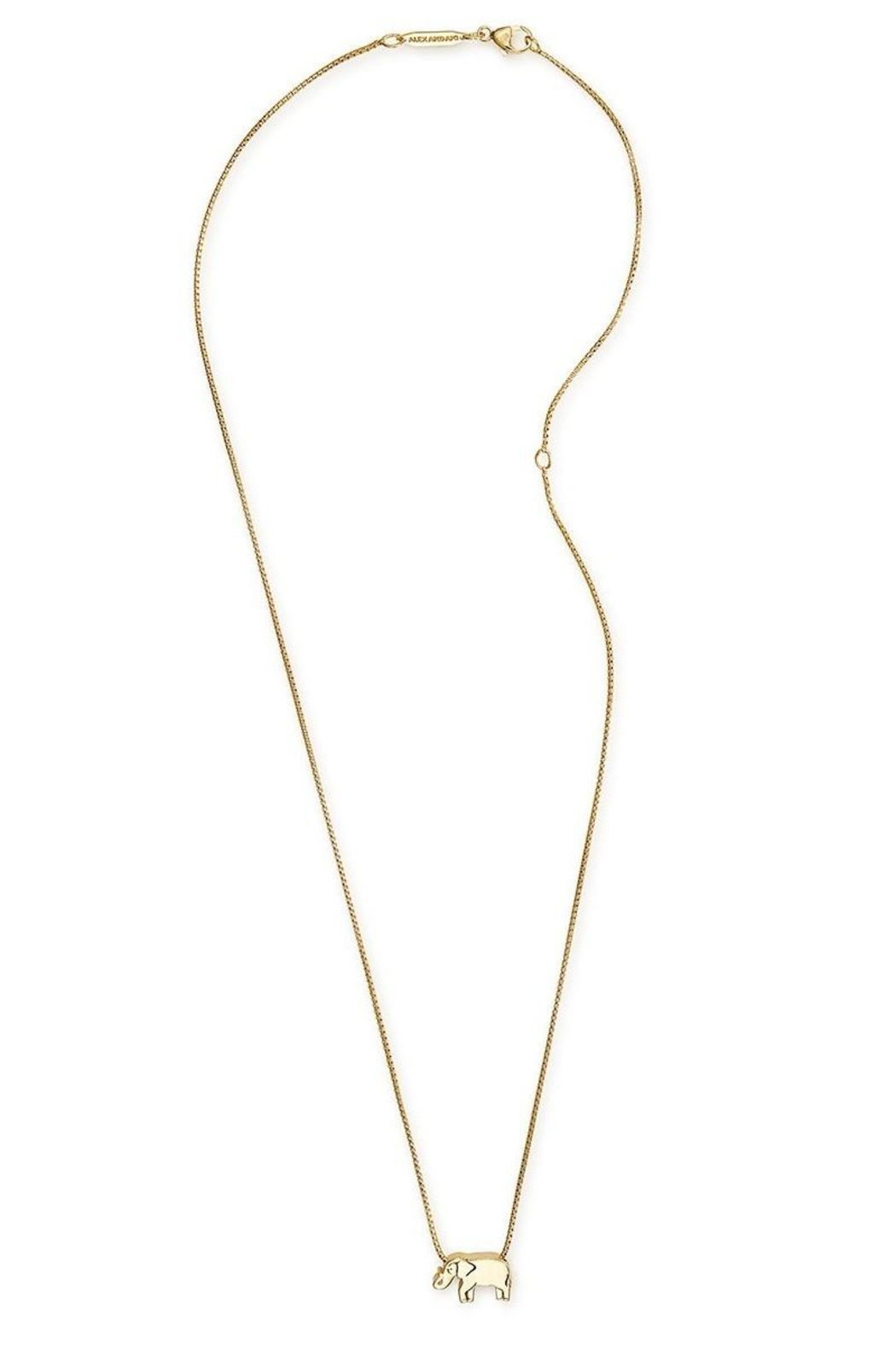 Alex and Ani Elephant Adjustable Necklace - Front Full Image