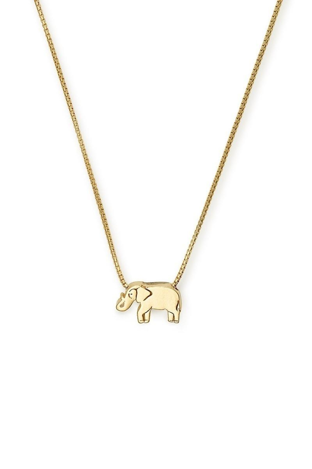 Alex and Ani Elephant Adjustable Necklace - Front Cropped Image