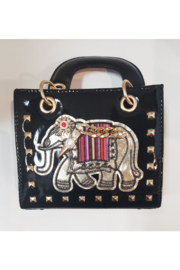 Ole' Elephant Black Patent Small Tote - Product Mini Image
