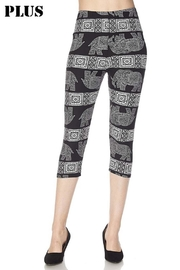 New Mix Elephant Capri Legging - Product Mini Image