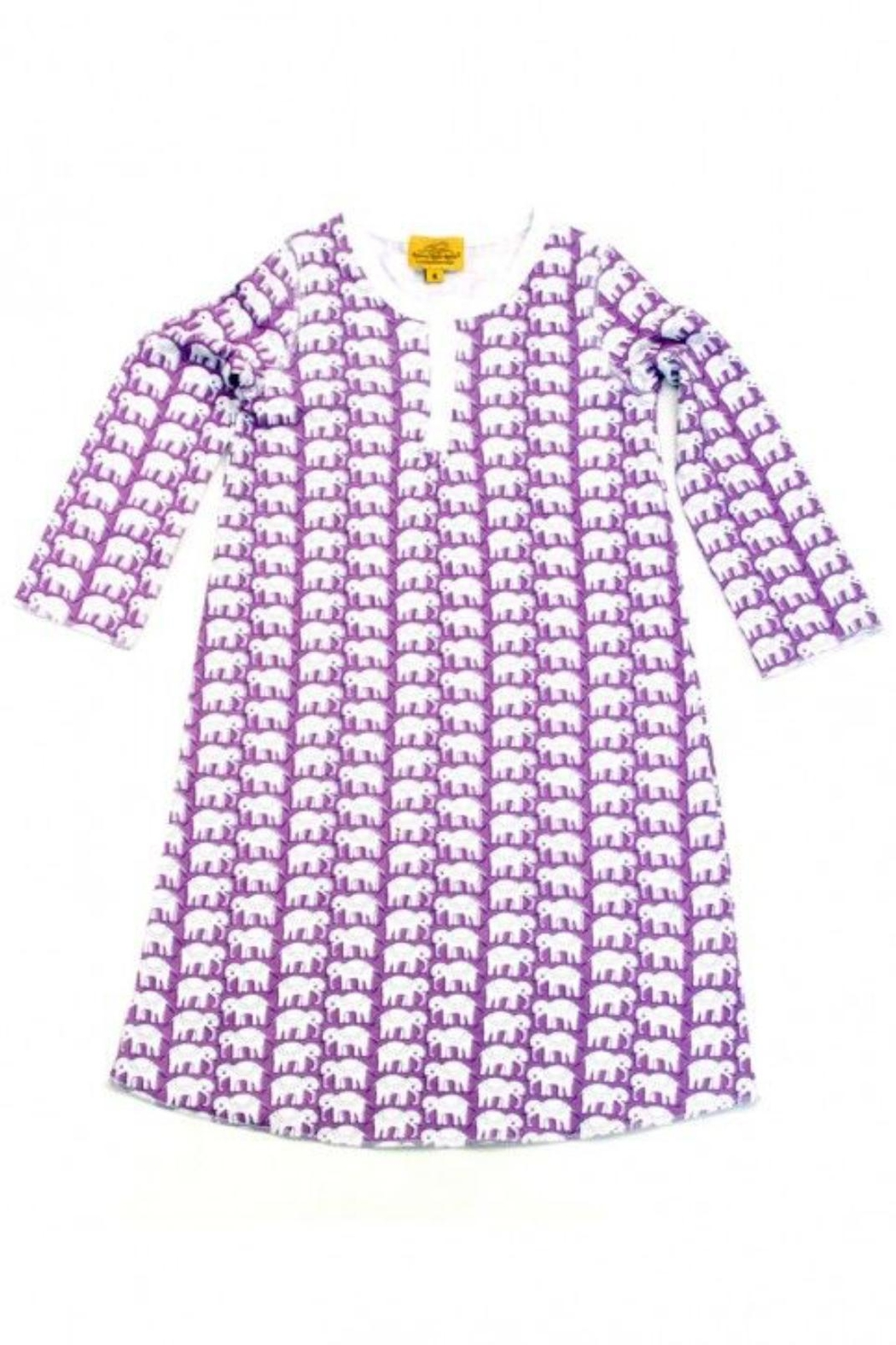 Roberta Roller Rabbit Elephant Girls Nightgown - Front Cropped Image