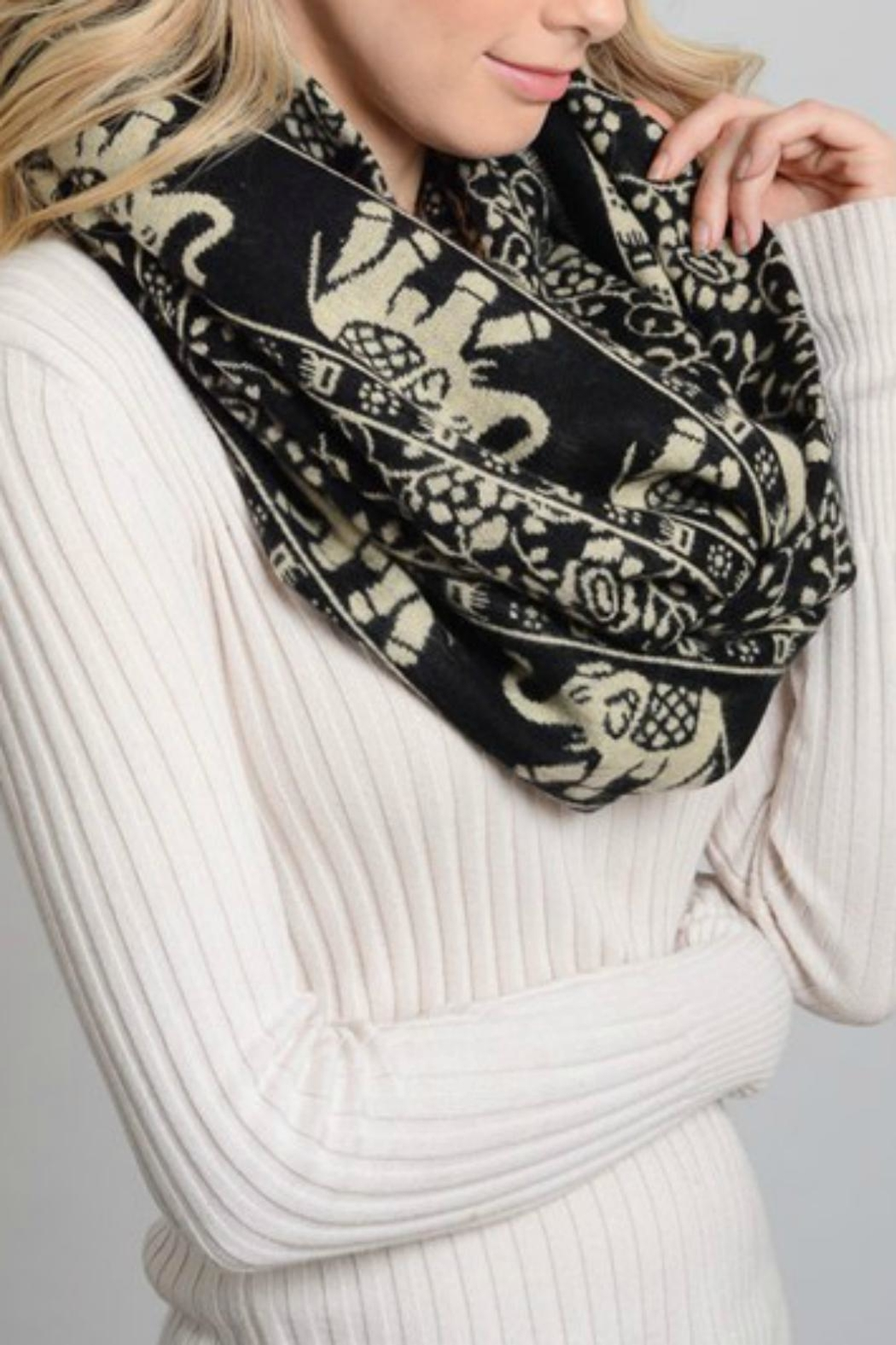 Pretty Little Things Elephant Infinity Scarf - Main Image