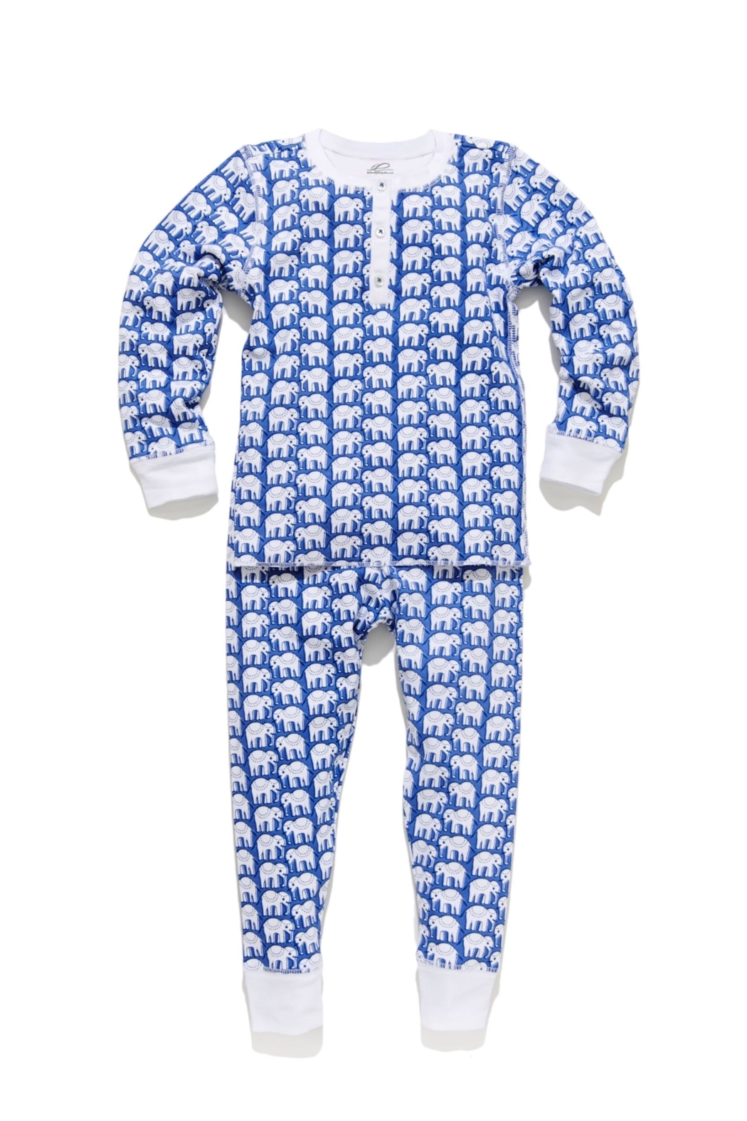 Roberta Roller Rabbit Elephant Kids Pj-Set-Blue - Main Image