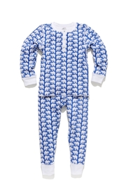 Roberta Roller Rabbit Elephant Kids Pj-Set-Blue - Front cropped
