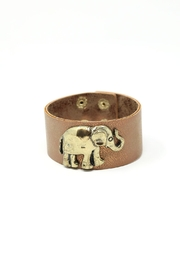 Nadya's Closet Elephant Leather Cuff - Product Mini Image